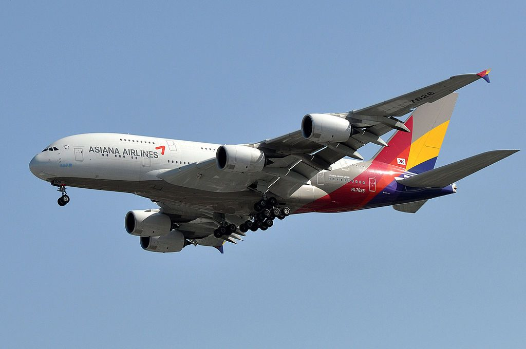Asiana Airlines Airbus A380 841 HL7626 at Los Angeles International Airport