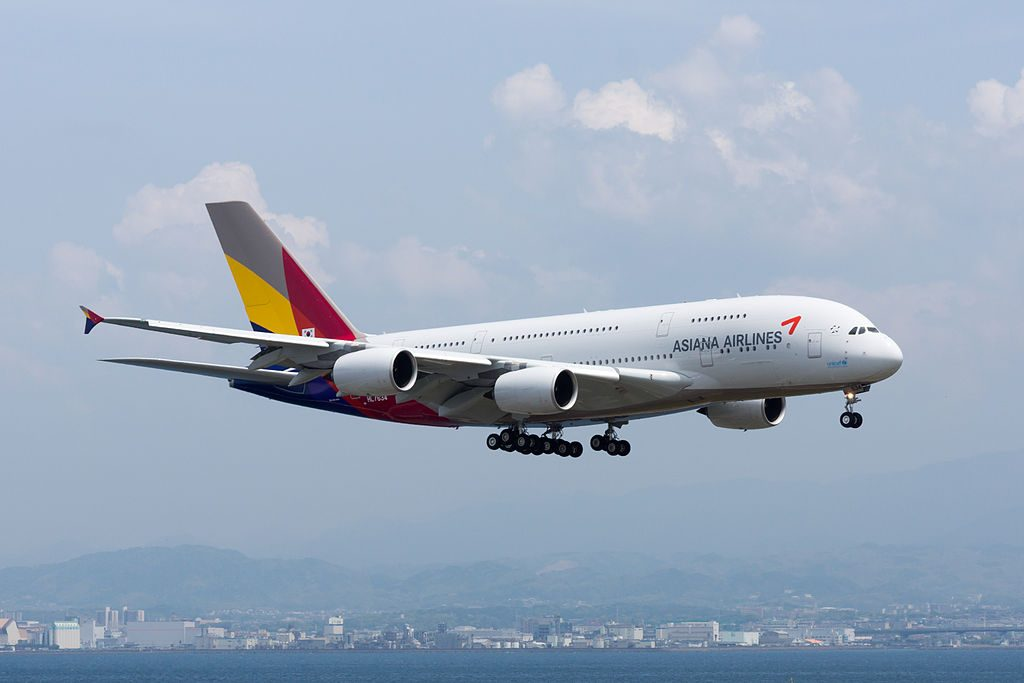 Asiana Airlines Airbus A380 841 HL7634 at Kansai International Airport