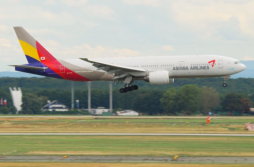 Asiana Airlines Boeing 777 28EER HL7775 at Frankfurt Airport