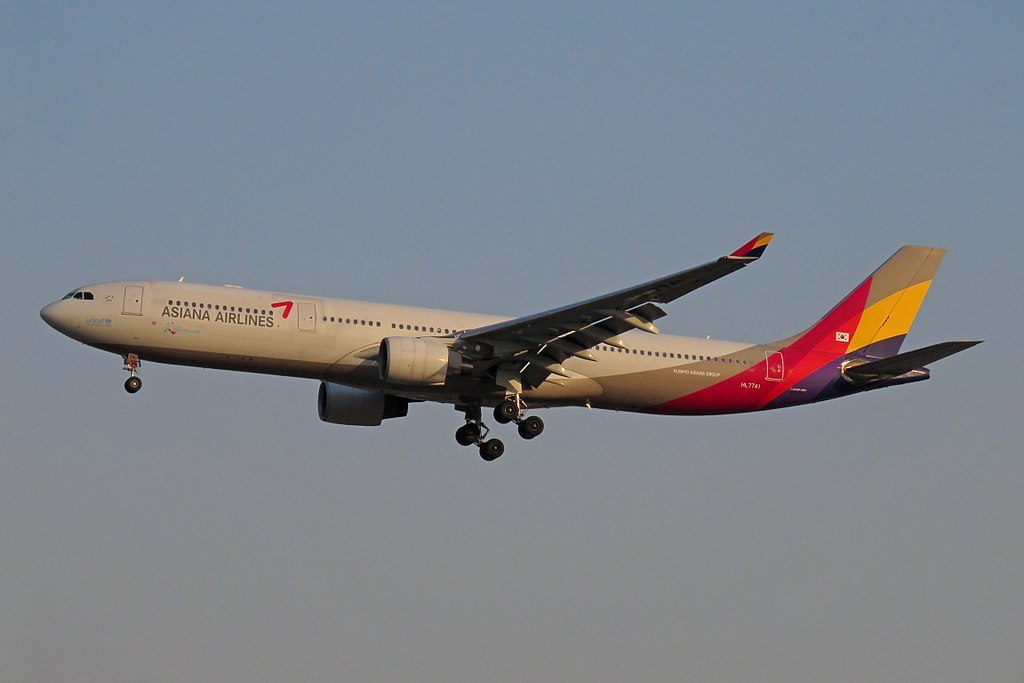 Asiana Airlines HL7741 Airbus A330 323 at Beijing Capital International Airport