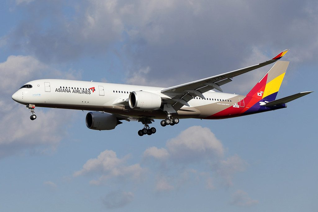 Asiana Airlines HL7771 F WZFF Airbus A350 941 at Tolouse Airport