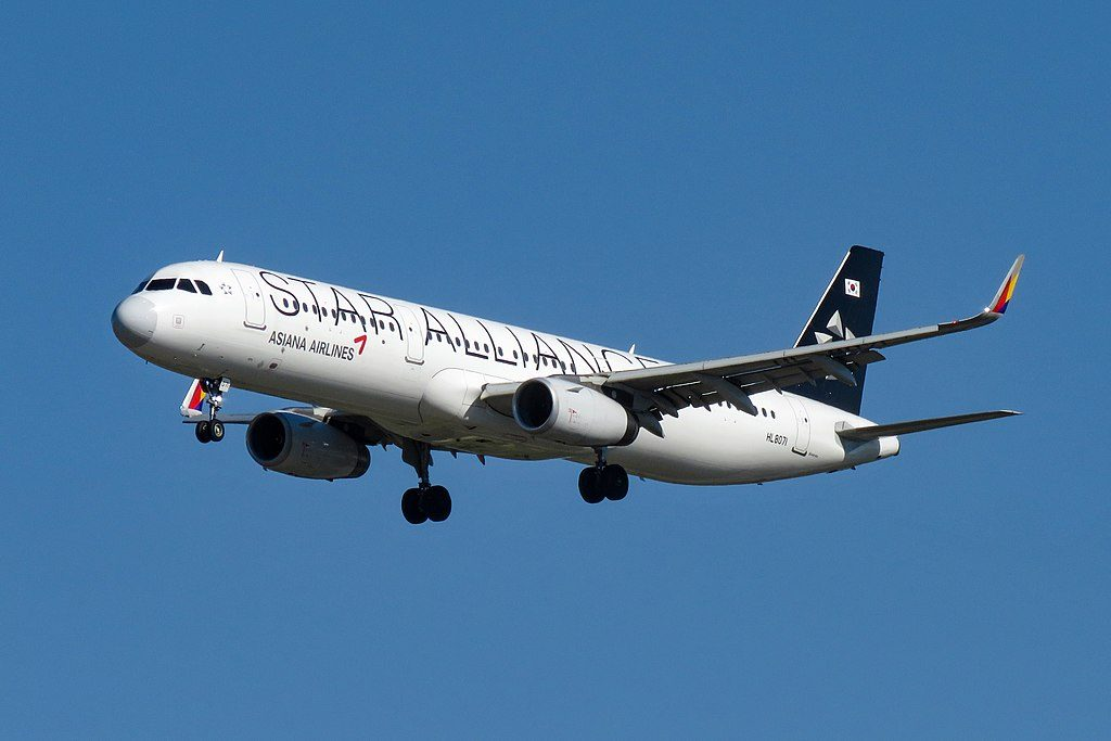 Asiana Airlines HL8071 Airbus A321 231WL Star Alliance Livery at Beijing Capital International Airport