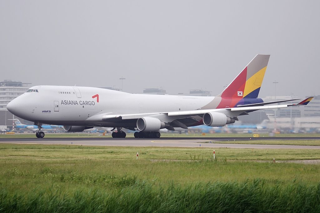 Asiana Cargo HL7413 Boeing 747 48EBDSF at Amsterdam Airport Schiphol