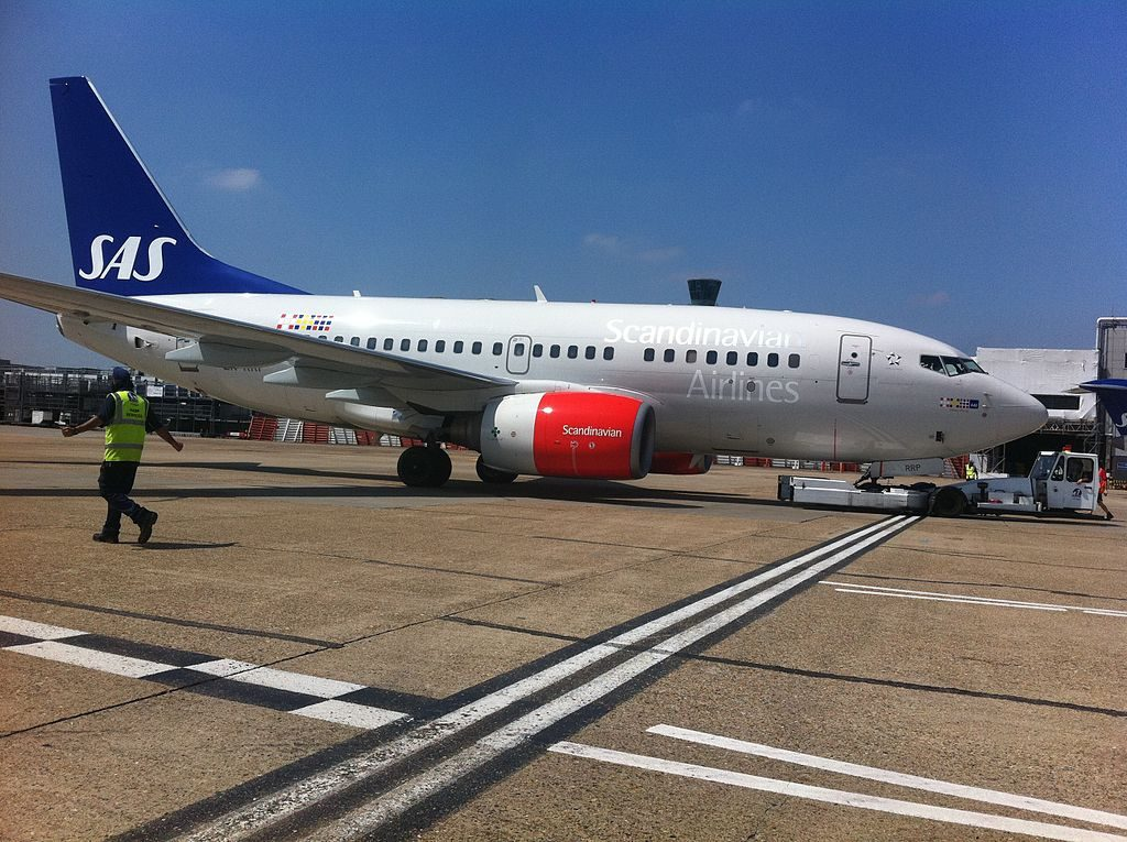 Boeing 737 683 LN RRP Vilborg Viking SAS Scandinavian Airlines at London Heathrow Airport