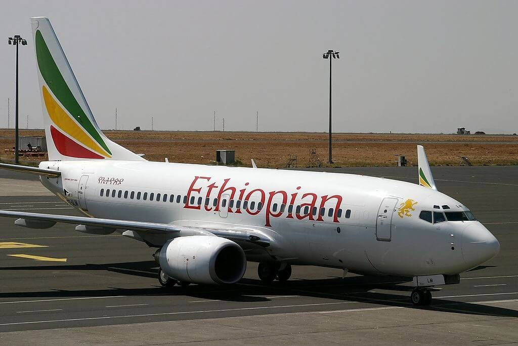 Boeing 737 760WL ET ALN Ethiopian Airlines at Bole International Airport