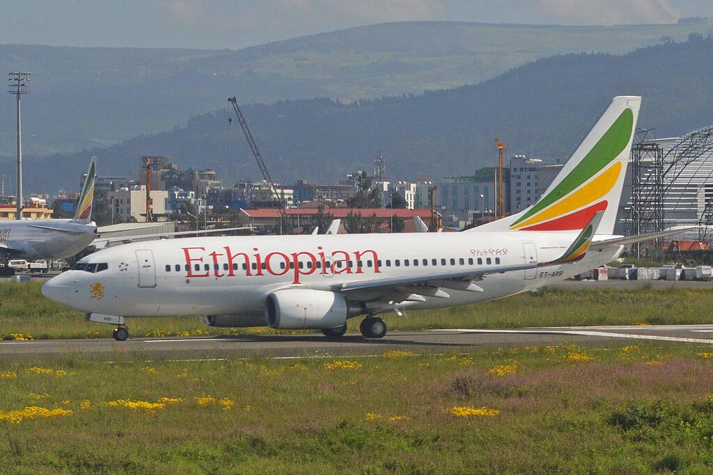 Boeing 737 7Q8w ET ARB Ethiopian Airlines at Bole International Airport Addis Ababa