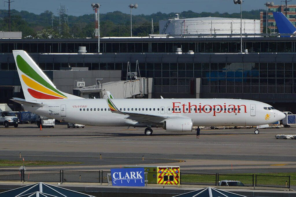 Boeing 737 860WL ET AQO Ethiopian Airlines at Washington Dulles International Airport