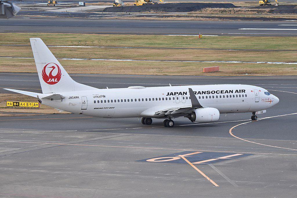 Boeing 737 8Q3WL JA04RK Japan Transocean Air JTA