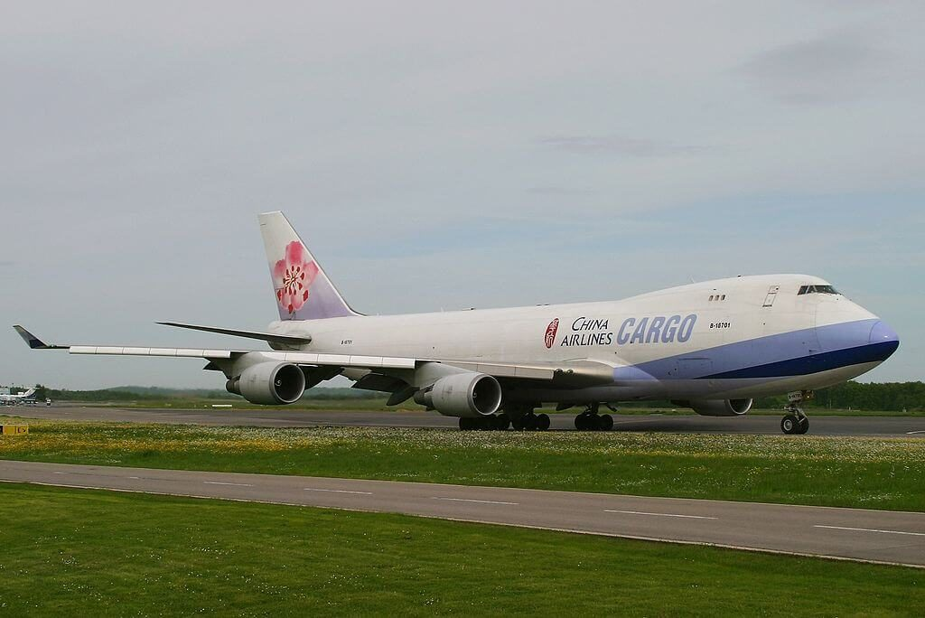 Boeing 747 409F China Airlines Cargo B 18701 at Luxembourg