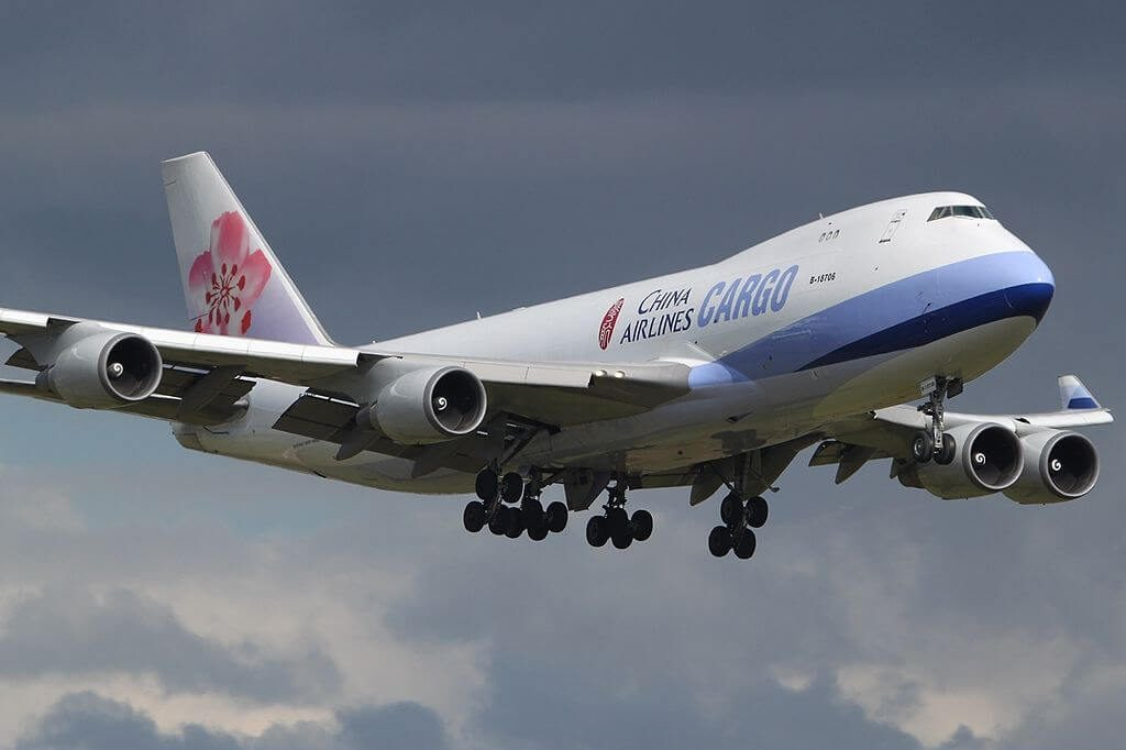 Boeing 747 409F China Airlines Cargo B 18706 at Luxembourg Findel International Airport
