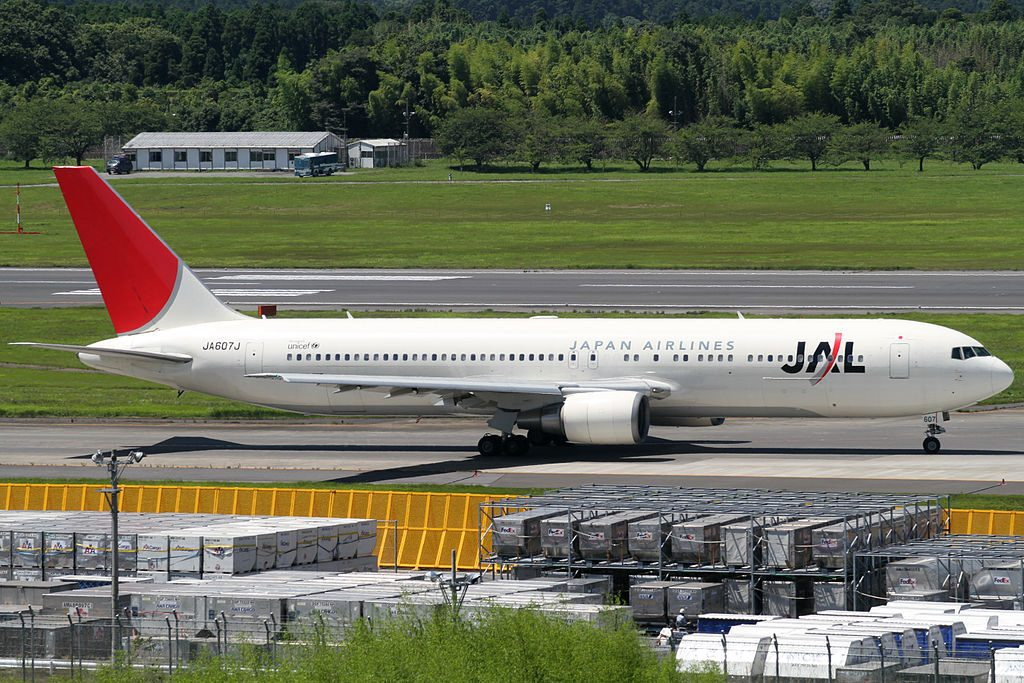 Boeing 767 346ER JA607J Japan Airlines JAL at Narita International Airport