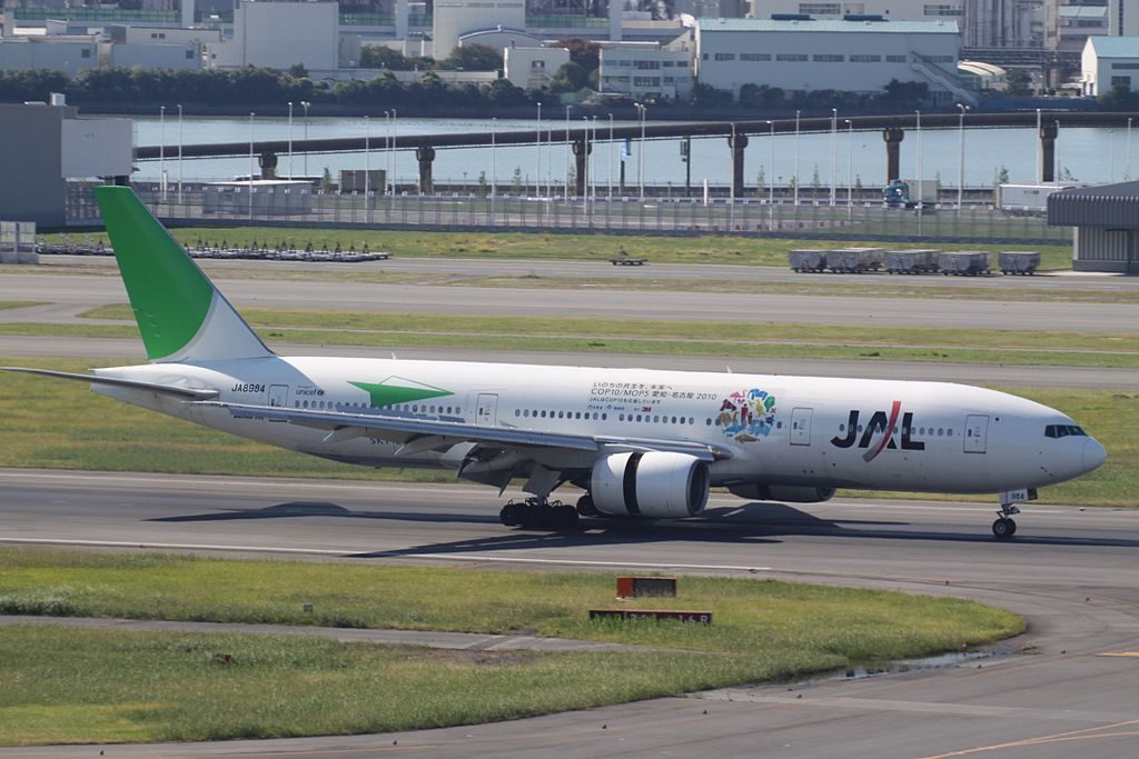 Boeing 777 246 JA8984 Japan Airlines JAL Sky Eco cs at Tokyo International Airport