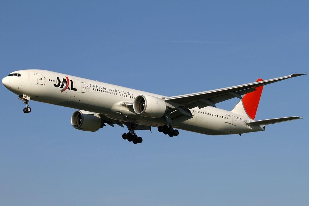 Boeing 777 346ER JA735J Japan Airlines JAL at London Heathrow Airport