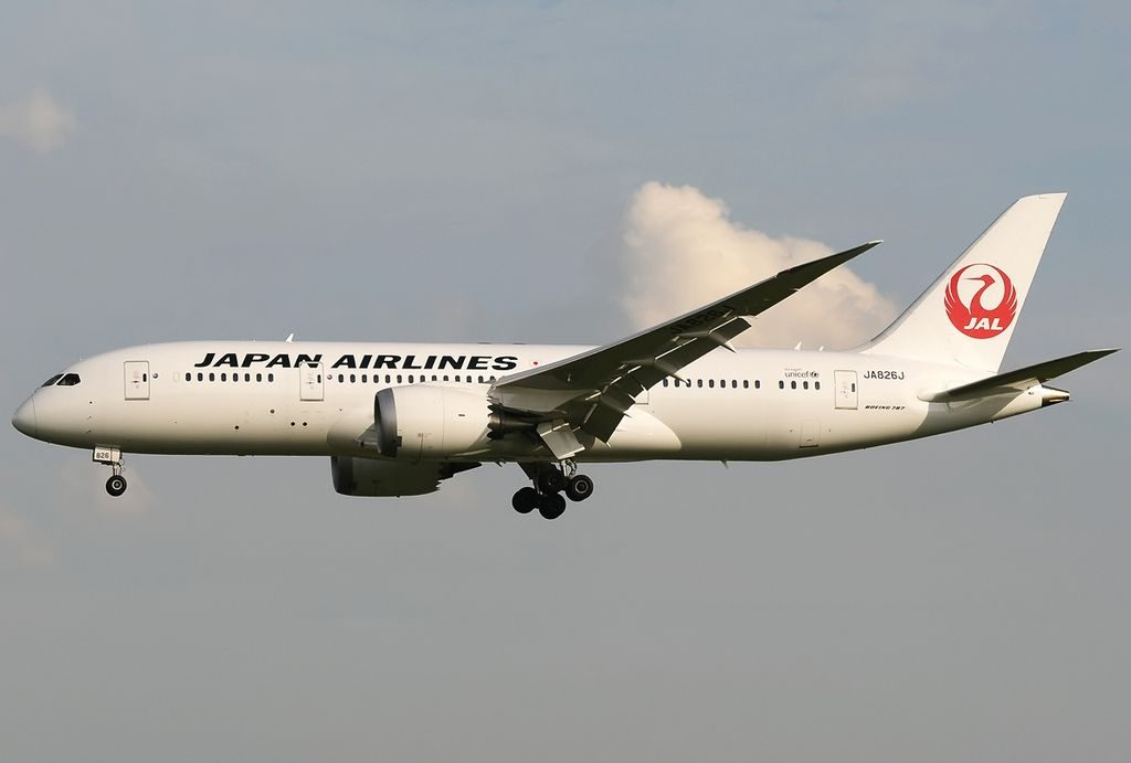 Boeing 787 8 Dreamliner Japan Airlines JAL JA826J at Singapore Changi Airport