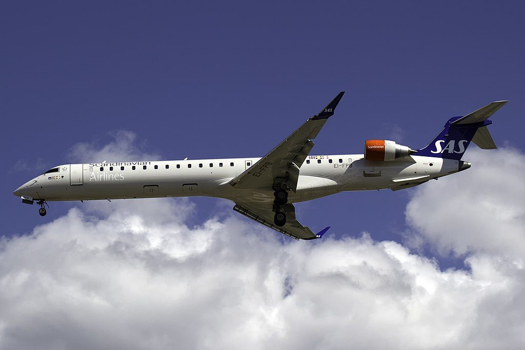 Bombardier CRJ 900ER CL 600 2D24 EI FPB Cityjet Alof Viking SAS Scandinavian Airlines aircraft at Visby Airport