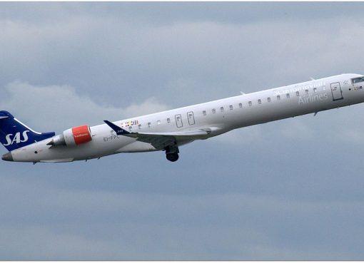 Bombardier CRJ 900ER CL 600 2D24 EI FPC Cityjet Bivor Viking SAS Scandinavian Airlines at Manchester Airport