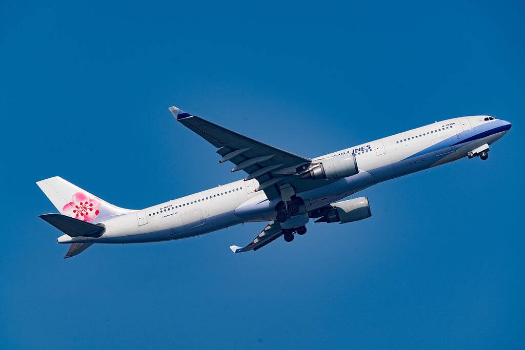 China Airlines Airbus A330 302 B 18308 at Kansai International Airport