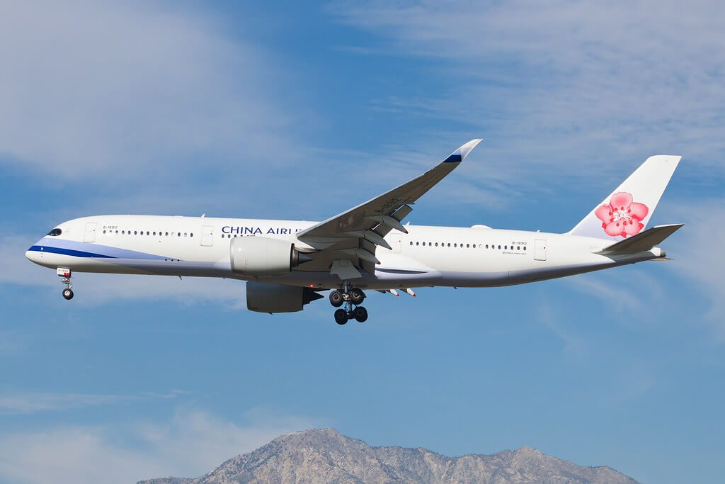 China Airlines Airbus A350 941 B 18912