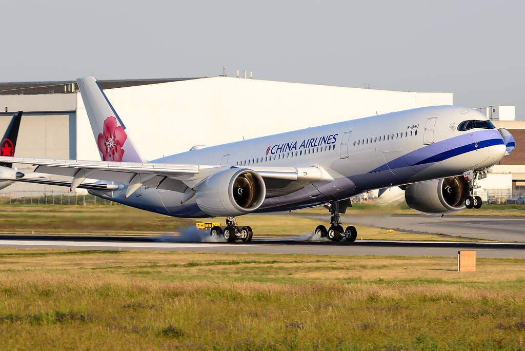 China Airlines Airbus A350 941 B 18917 at Vancouver International Airport