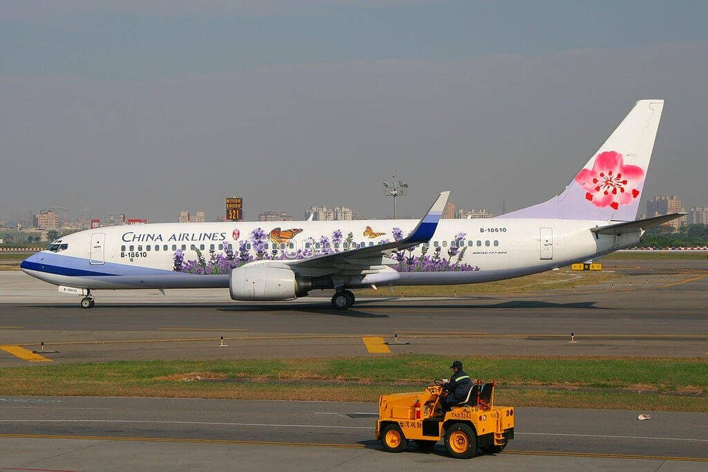 China Airlines Boeing 737 809WL B 18610 at Kaohsiung International Airport
