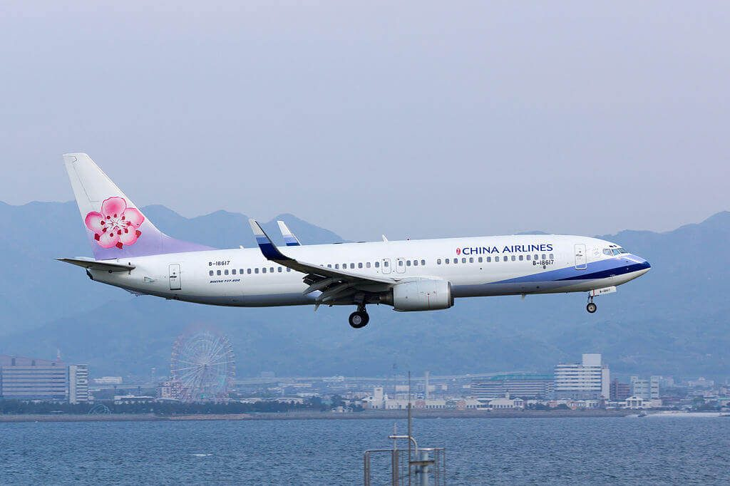 China Airlines Boeing 737 809WL B 18617 at Kansai International Airport