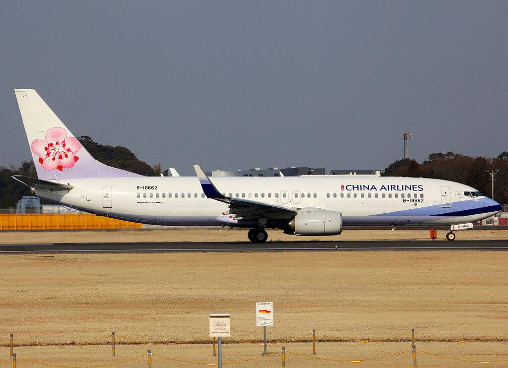 China Airlines Boeing 737 8ALWL B 18662 at Narita Airport
