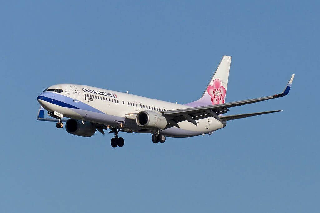 China Airlines Boeing 737 8Q8WL B 18651 at Beijing Capital International Airport