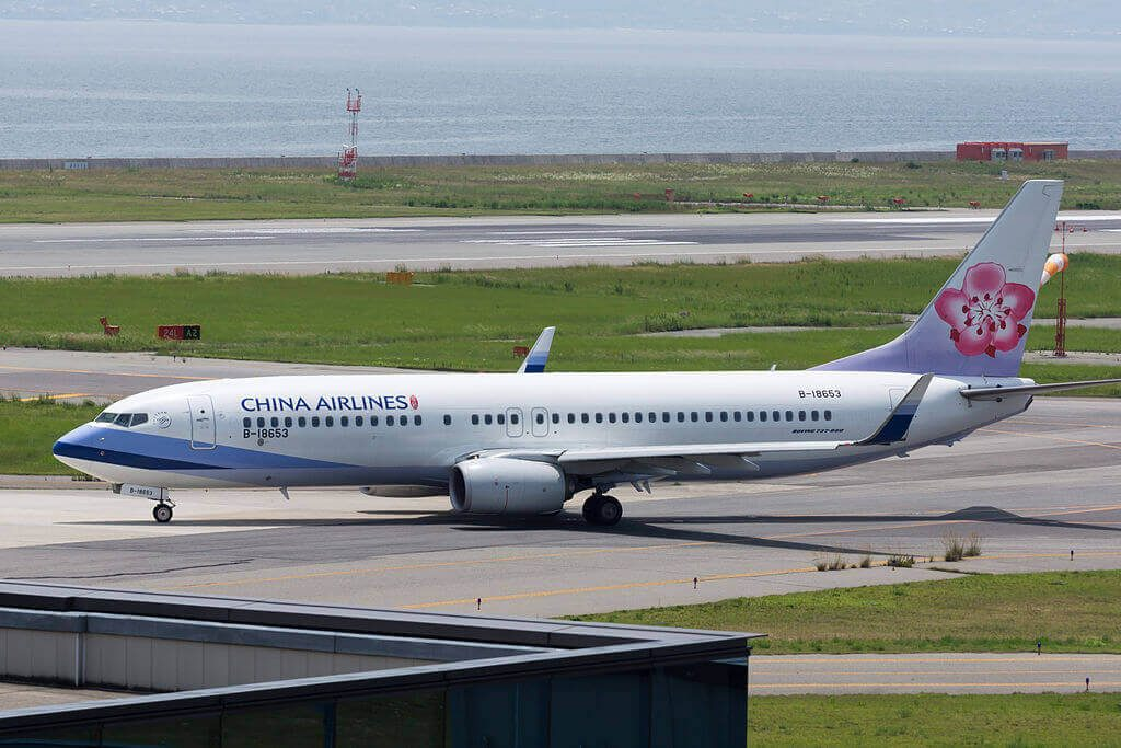 China Airlines Boeing 737 8Q8WL B 18653 at Kansai International Airport