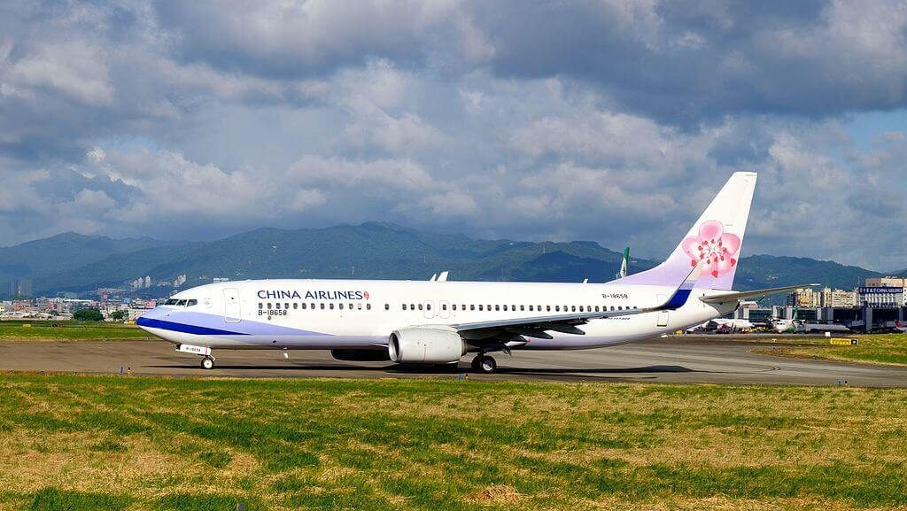 China Airlines Boeing 737 8SHWL B 18658 at Taipei Songshan Airport