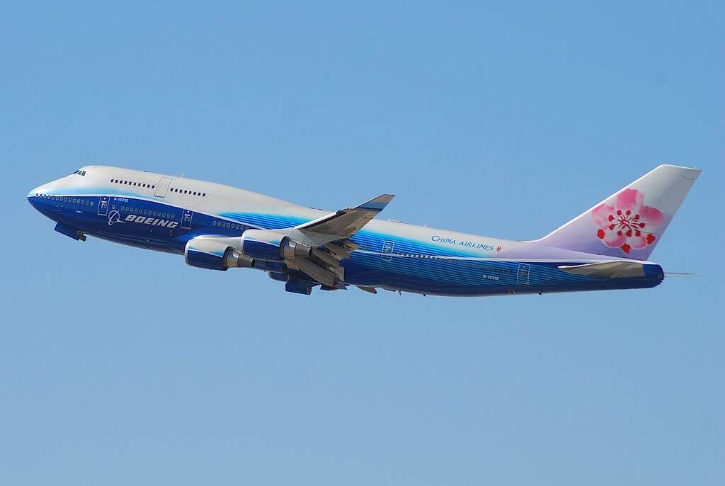 China Airlines Boeing 747 409 B 18210 Dreamliner Livery at Los Angeles International Airport LAX