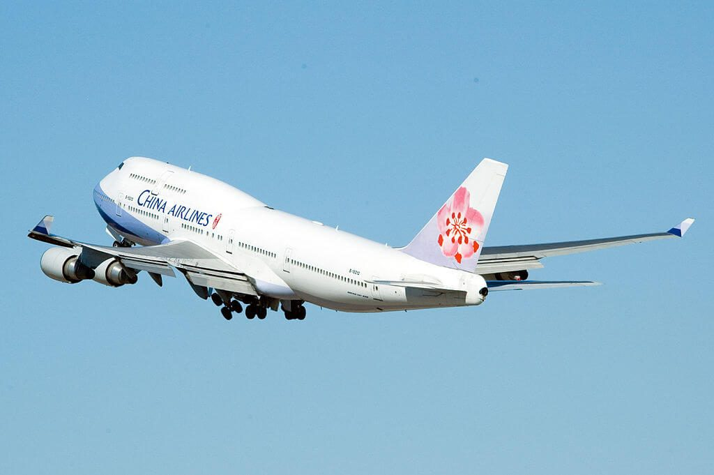 China Airlines Boeing 747 409 B 18212 at Los Angeles International Airport