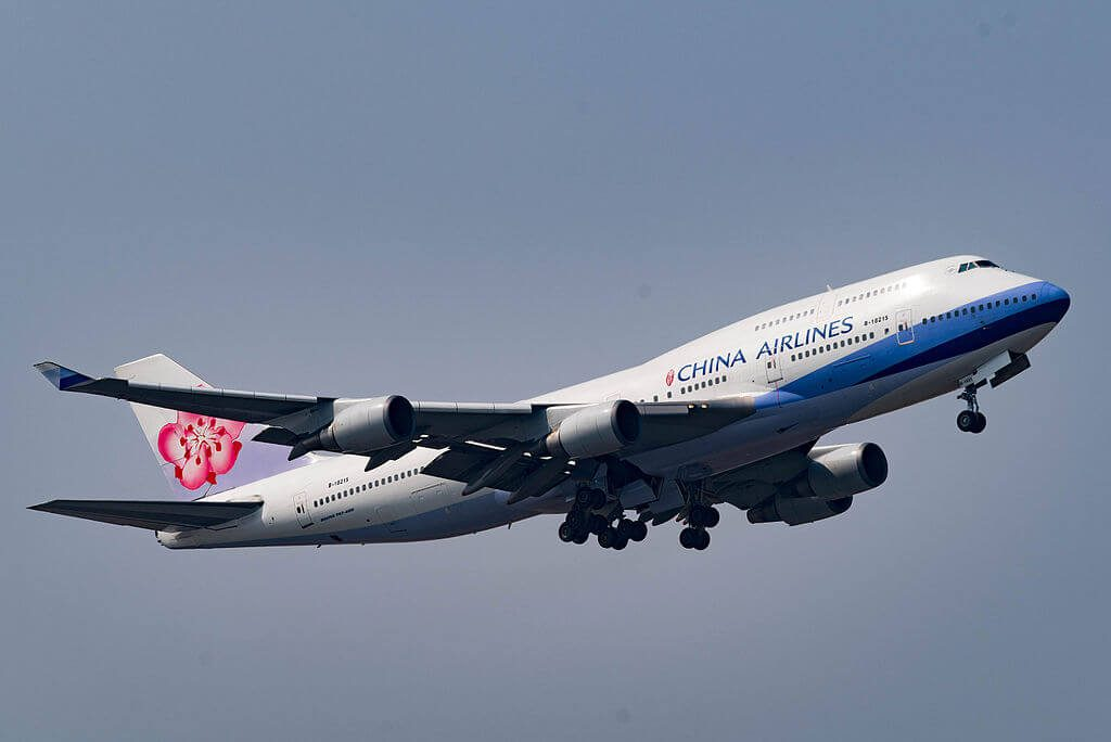 China Airlines Boeing 747 409 B 18215 at Kansai International Airport