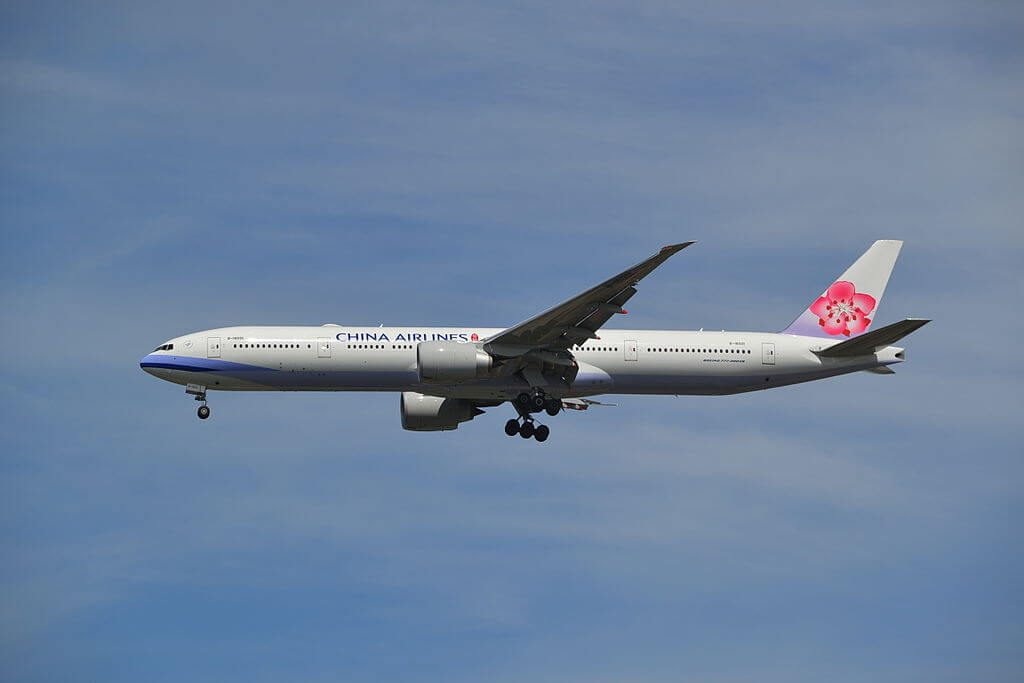 China Airlines Boeing 777 309ER B 18001 at Suvarnabhumi International Airport