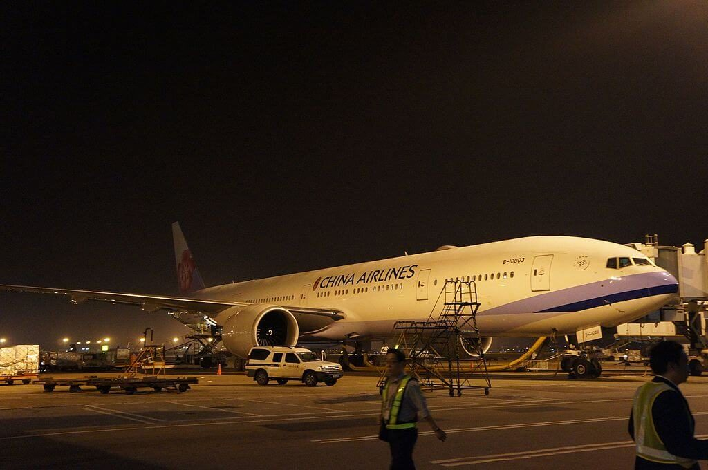 China Airlines Boeing 777 309ER B 18003 at Shanghai Pudong International Airport
