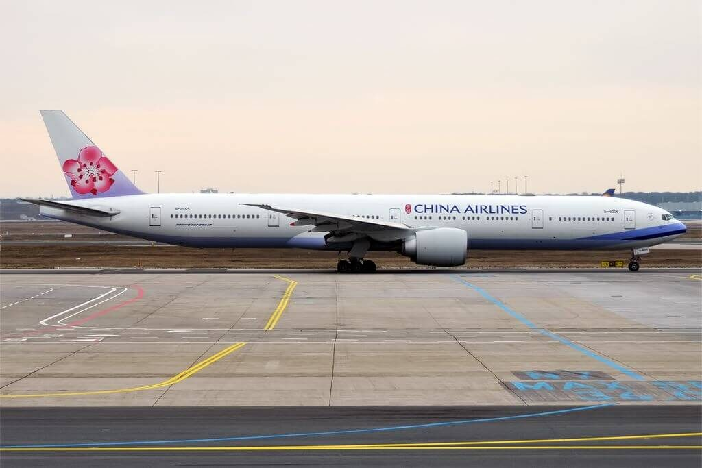 China Airlines Boeing 777 309ER B 18005 at Frankfurt Airport