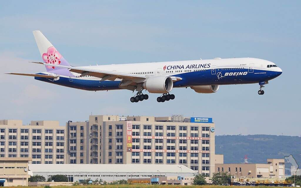 China Airlines Boeing 777 309ER B 18007 Dreamliner Livery at Taiwan Taoyuan International Airport