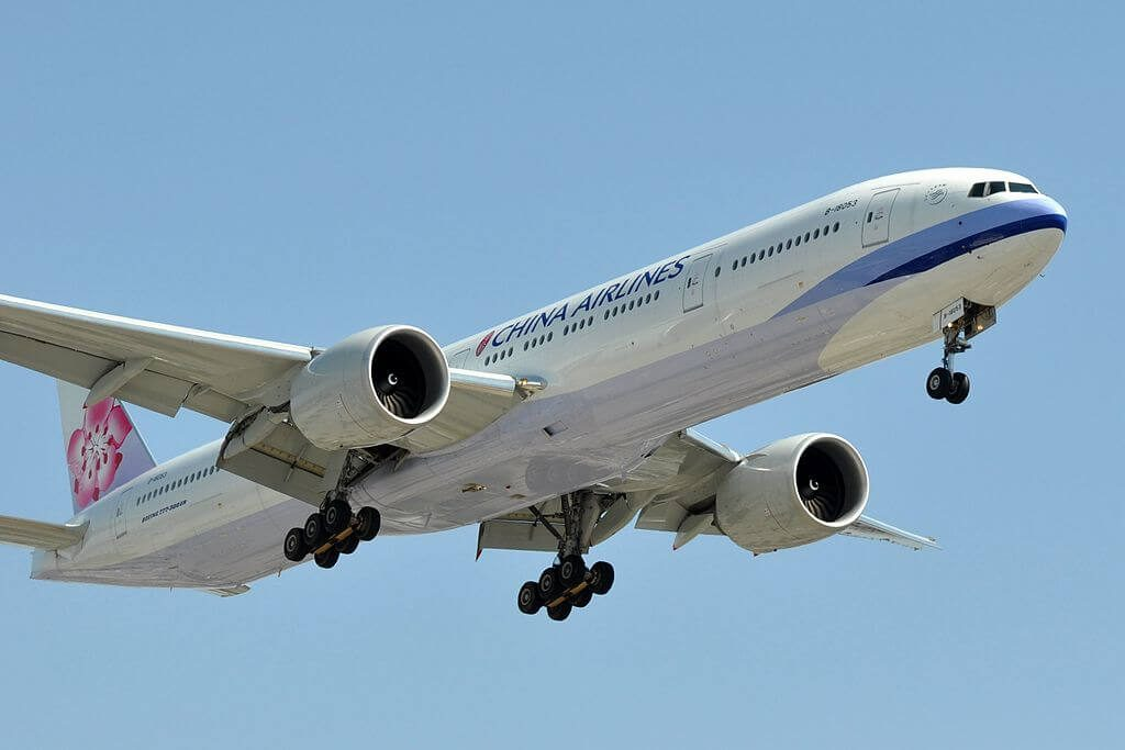 China Airlines Boeing 777 309ER B 18053 at Los Angeles International Airport LAX