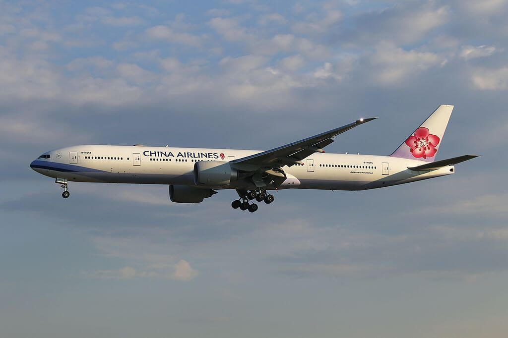 China Airlines Boeing 777 309ER B 18055 at Frankfurt Airport