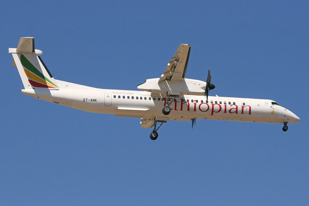 De Havilland Canada DHC 8 402Q Dash 8 ET ANK Ethiopian Airlines