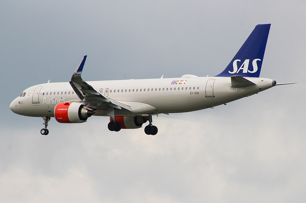 EI SIA Airbus A320neo Ulv Viking of Scandinavian Airlines Ireland at London Heathrow Airport