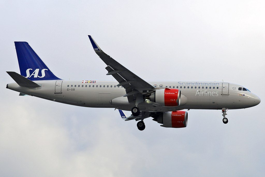 EI SIB Airbus A320neo Scandinavian Airlines Ireland Ellisiv Viking at London Heathrow Airport