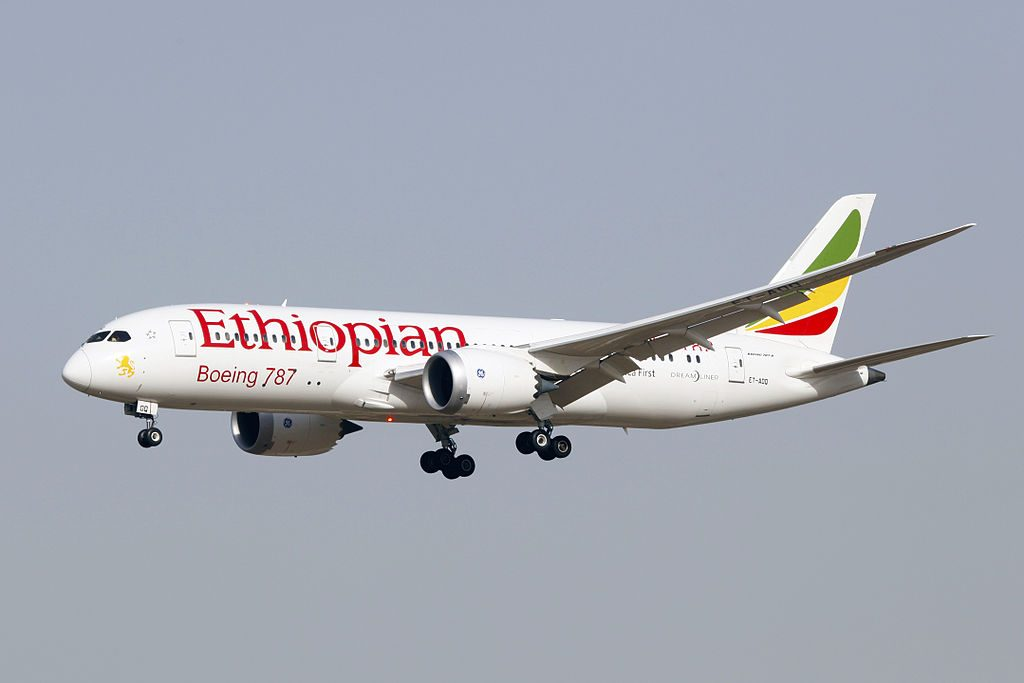 ET AOQ Ethiopian Airlines Boeing 787 8 Dreamliner Africa First at Beijing Capital International Airport