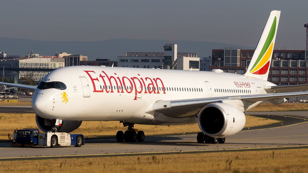 Ethiopian Airlines Airbus A350 941 ET AUB Gheralta Mountains