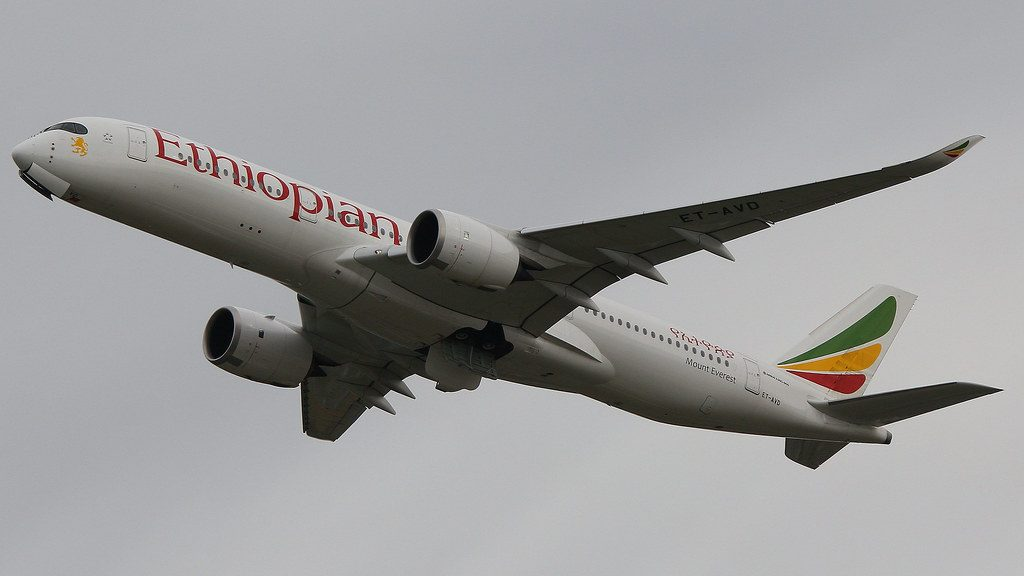 Ethiopian Airlines Airbus A350 941 ET AVD Mount Everest at LHR Airport