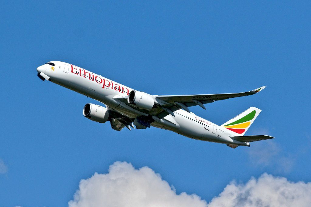 Ethiopian Airlines Airbus A350 941 ET AWN Bunna delivery flight from Tolouse Blagnac Airport