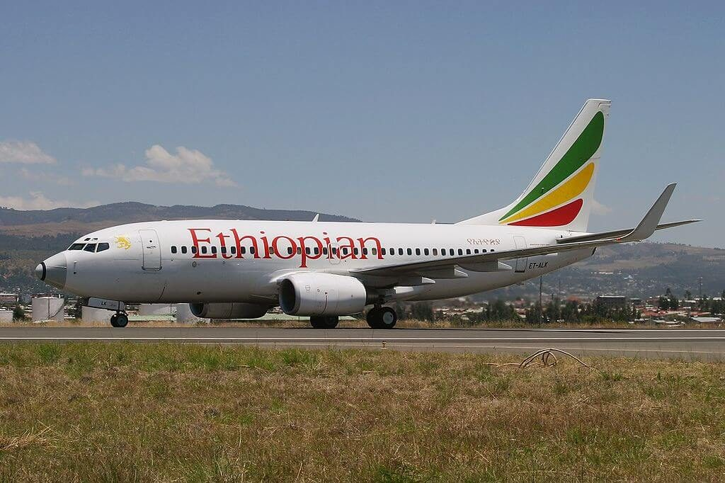Ethiopian Airlines Boeing 737 760WL ET ALK at Bole International Airport