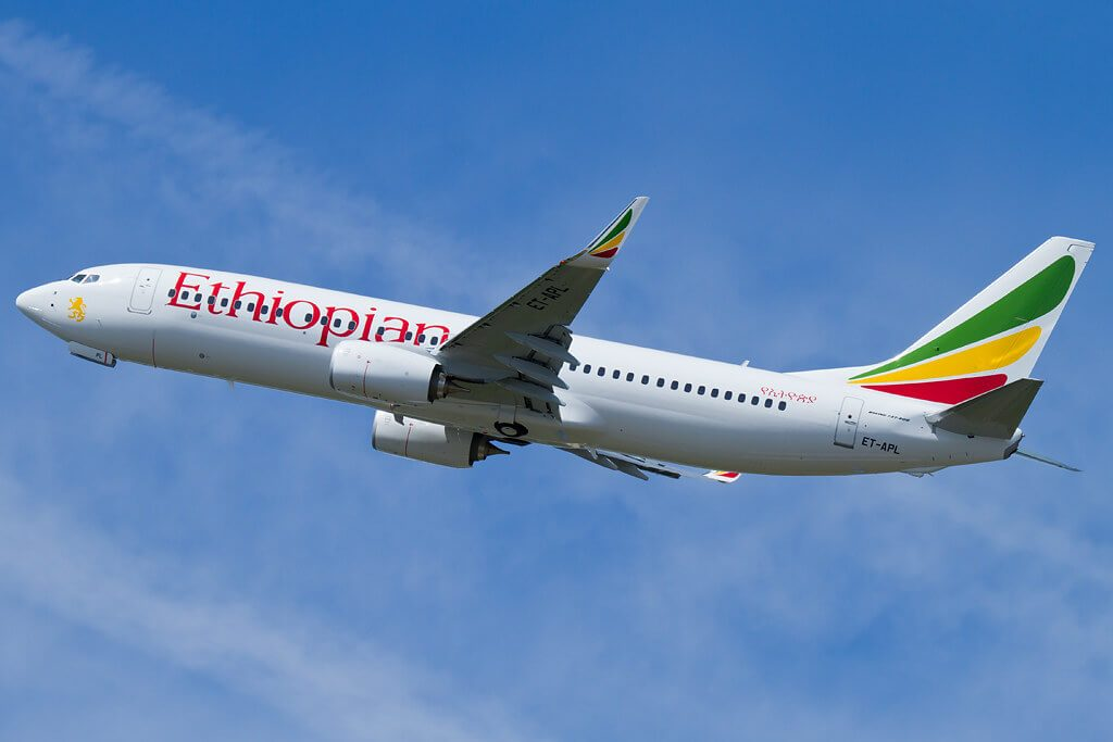 Ethiopian Airlines Boeing 737 860WL ET APL