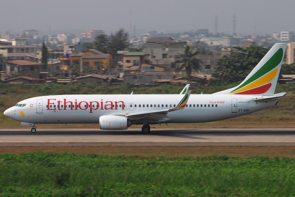 Ethiopian Airlines Boeing 737 860WL ET AQN