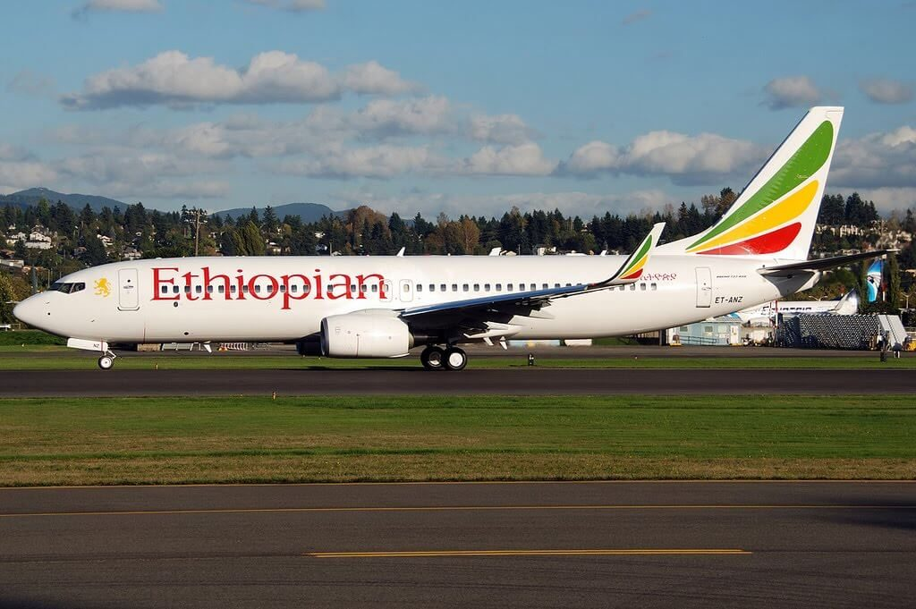Ethiopian Airlines Boeing 737 8HOWL ET ANZ