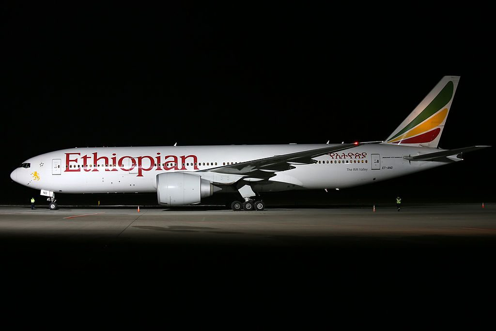 Ethiopian Airlines Boeing 777 260LR ET ANO The Rift Valley at Lviv International Airport